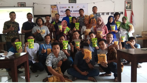 Jragung Youth Group completing SINERGI Training, with their product (Photo: Andhiani M. Kumalasari/SINERGI)